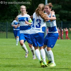 Grund zum Feiern: Die B-Juniorinnen des MSV wurden beim AOK Cup 2014 erst im Finale gestoppt