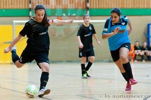 Feuer frei - Mit 10 Treffern sicherte sich Edina Habibovic(MSV) beim U15 Girls Cup 2014 die Trophähe der wertvollsten Spielerin