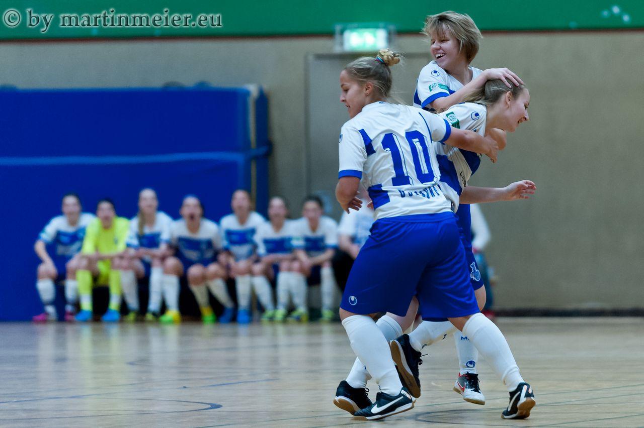 Grund zum Feiern - Der MSV stürmte im letzten Jahr beim Rhader U17 Girls Cup bis ins Finale
