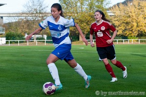 Vorteil MSV - Die Duisburgerinnen waren im ersten Spielabschnitt die spielbestimmende Mannschaft