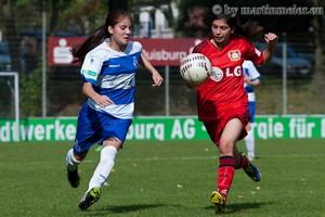 Auf Augenhöhe präsentierten sich der MSV und Bayer Leverkusen in der Bundesligapoartie