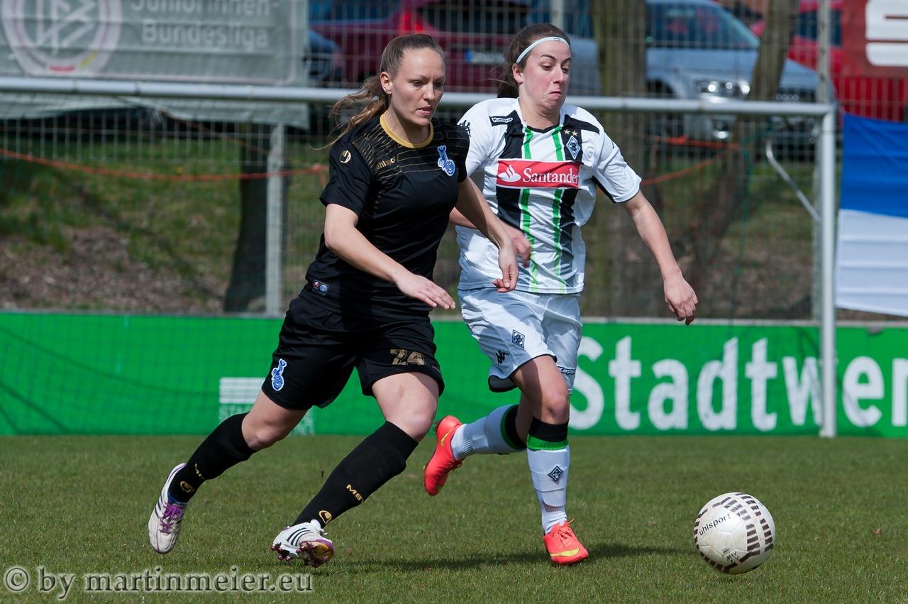 Hin und her ging es zwischen den Zebras um Elno Hauer und Borussia Mönchengladbach um Kelly Simons