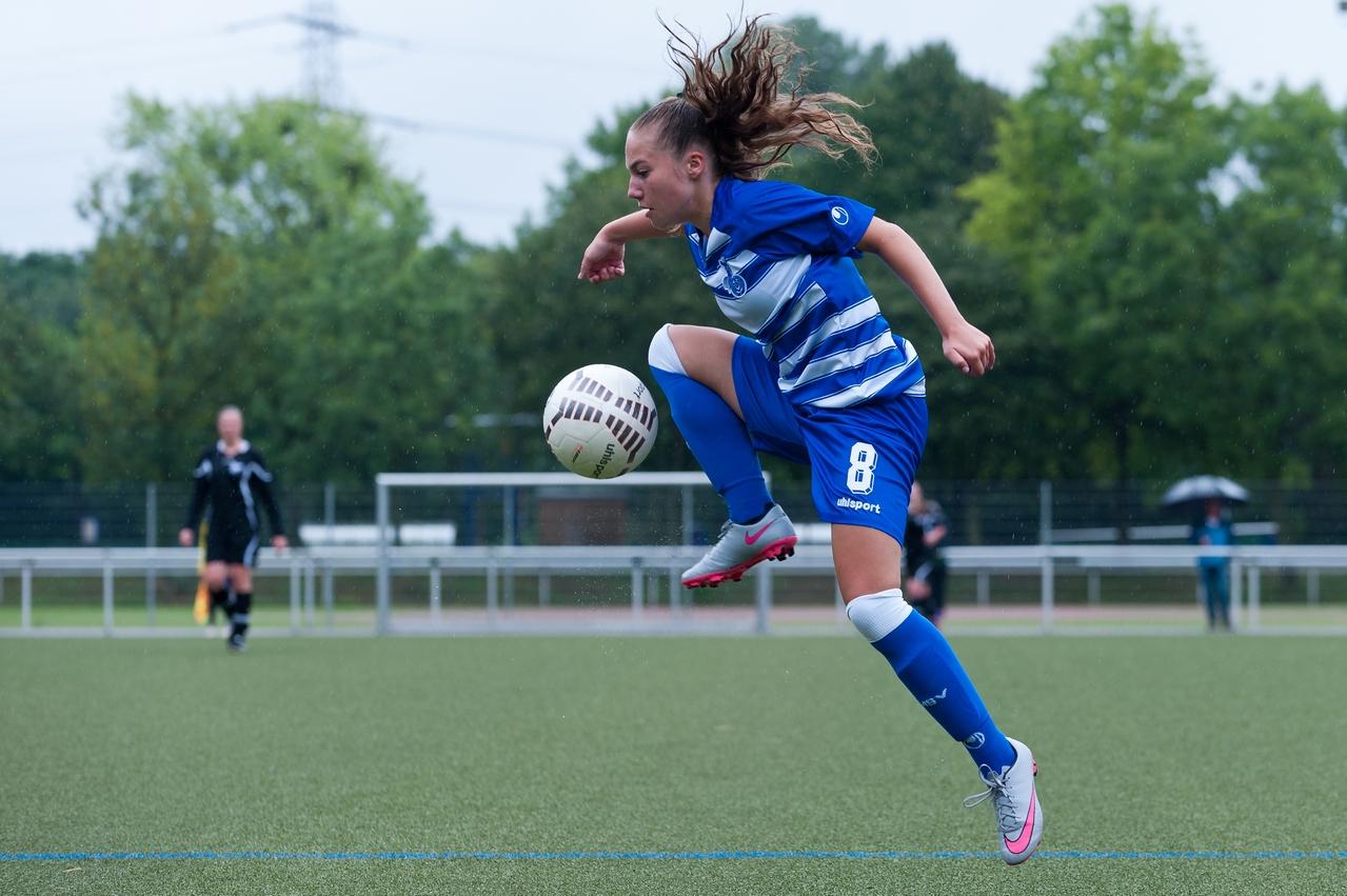 Veni, vidi, vici - Die 17jährige Melissa Keß erzielte in Leverkusen ihr erstes Pflichtspieltor im Seniorinnenbereich für den MSV