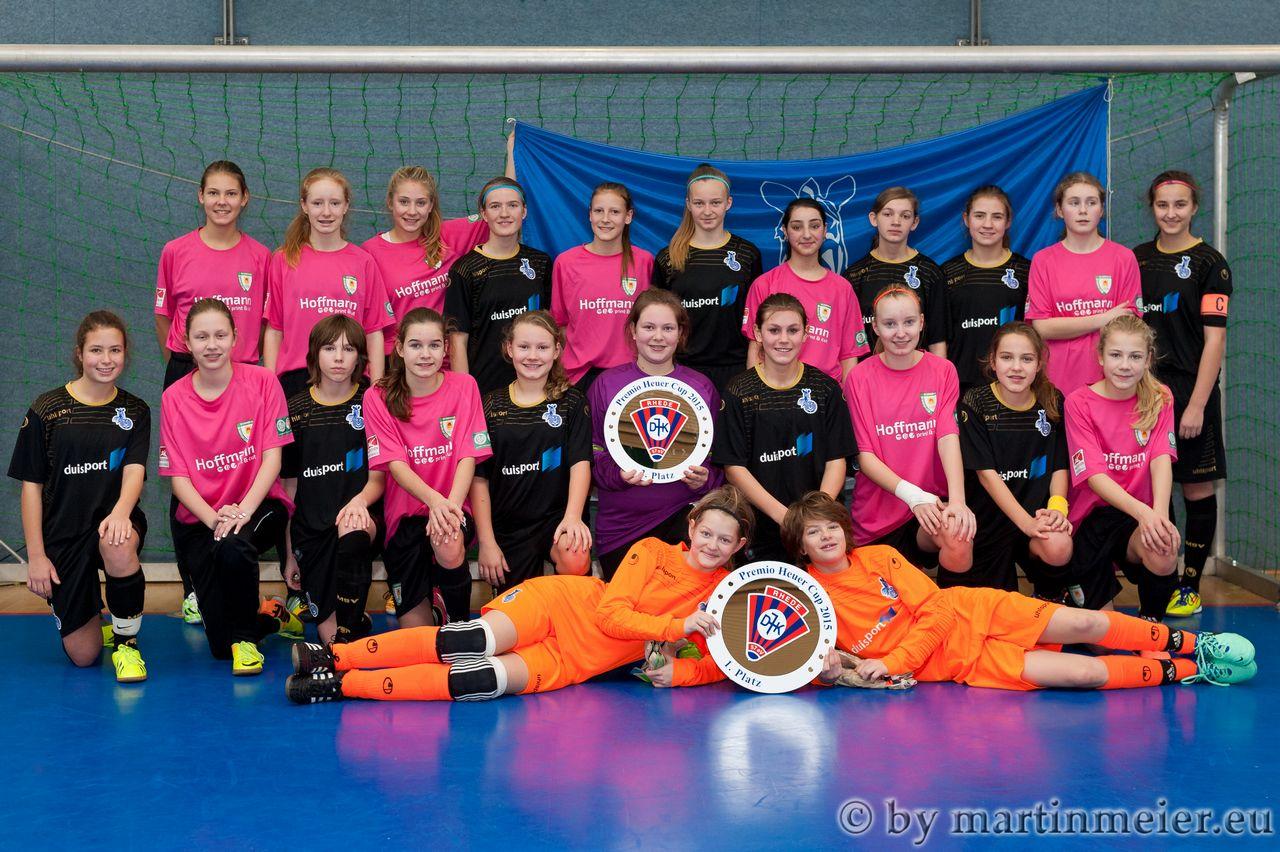 Guter Start - Die C-Juniorinnen des MSV Duisburg begannen das Jahr mit einem Turniersieg