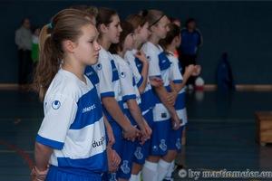 Volle Konzentration - Die Zebramädchen in Vorbereitung auf den U15 Girls Cup in der Krahnendonkenhalle