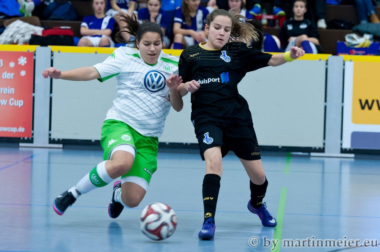 Breitkreuz - Gegen den VfL Wolfsburg standen den Jungzebras, etwas größere Kaliber gegenüber