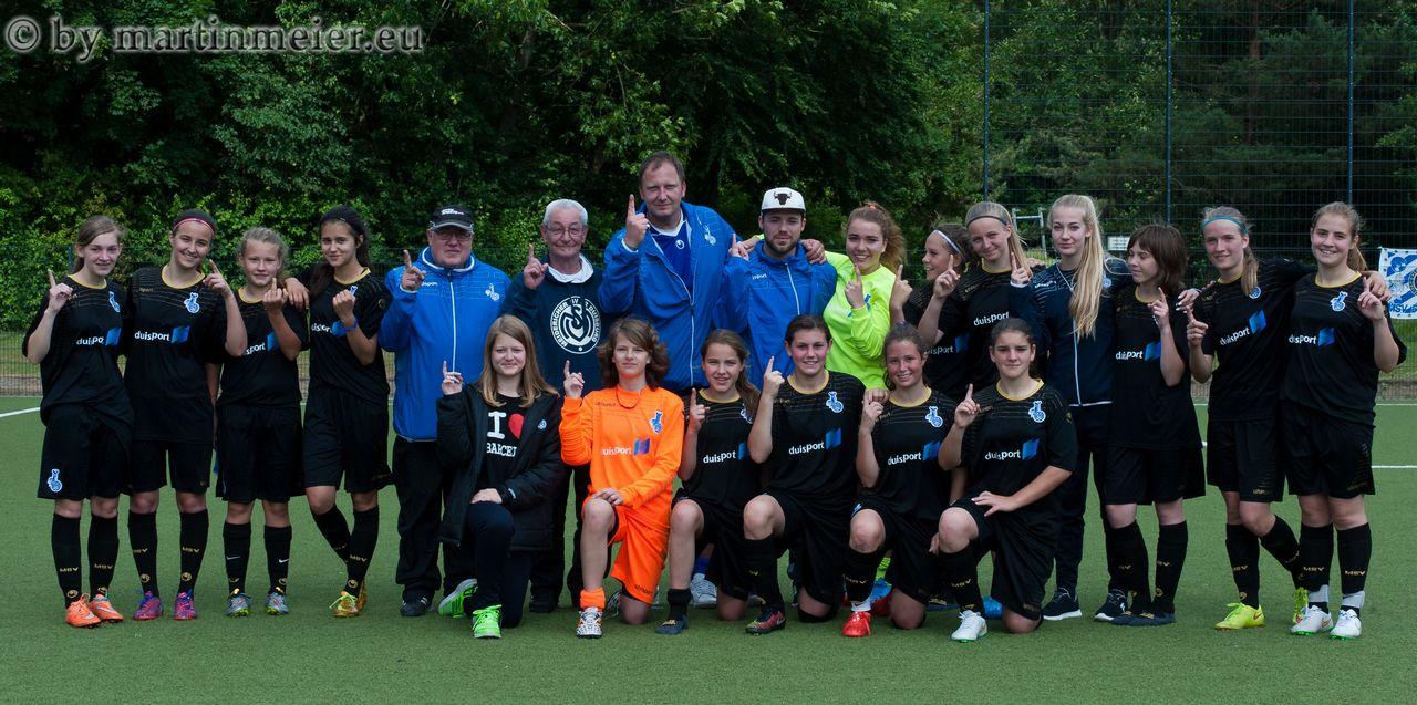Geschafft! - Die U16 Mädels des MSV steigen in die Niederrheinliga auf
