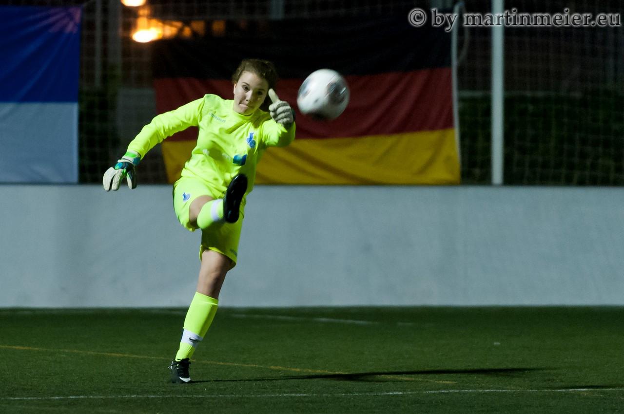 Kein Weg vorbei - MSV Torfrau Carolin Harti(MSV) ist in dieser Saison in Pflichspielen noch ohne Gegentor