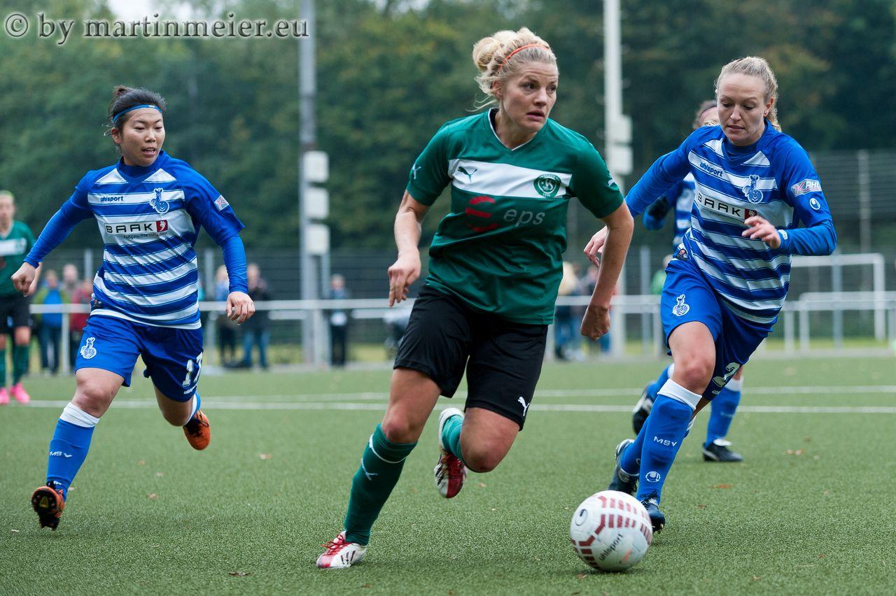 Welcome Home - Für Maria Herzenberg(SpoHo) war das Spiel in Duisburg die Rückkehr an ihre langjährige Wirkungsstätte