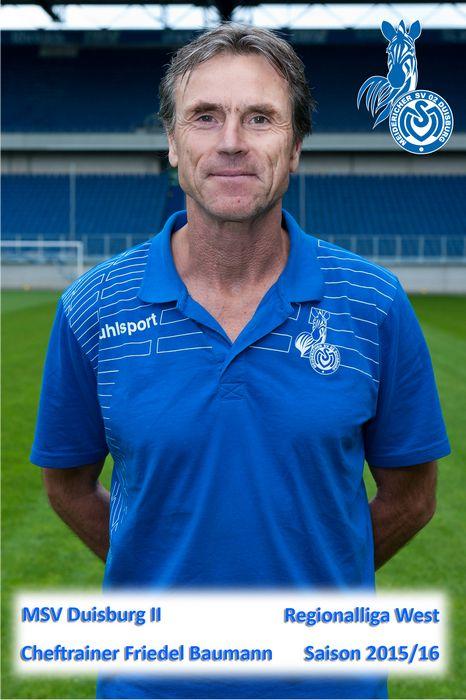 MSV II Cheftrainer Friedel Baumann