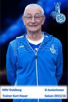 MSV U13 Trainer Kurt Hauer