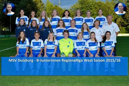 MSV Duisburg B-Juniorinnen Bundesliga Saison 2015/16