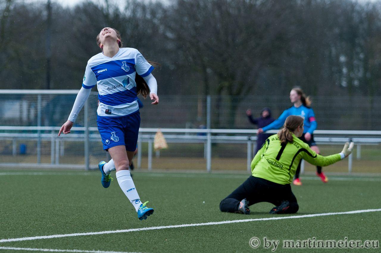 Moment des Glücks - Edina Habibovic dreht nach ihrem zweiten Treffer überglücklich ab