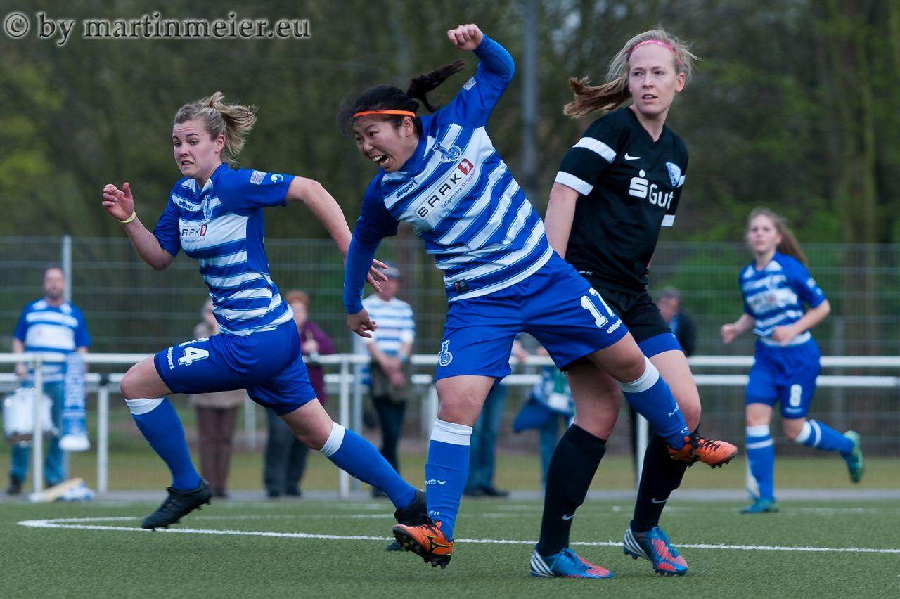 Heißer Tanz - Yuna Segawa(MSV) traf bei Derbysieg gegen den VFL Bochum zweimal