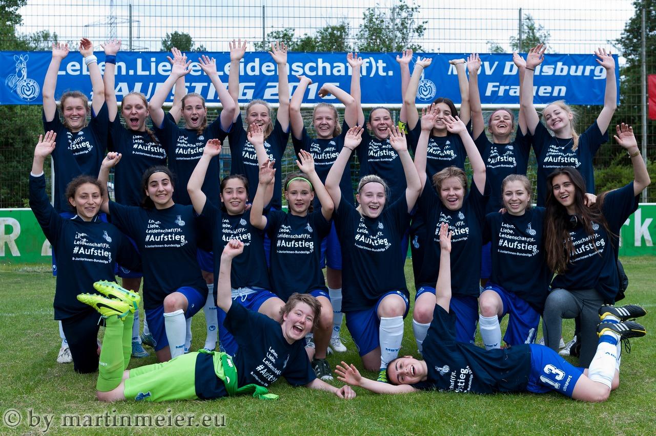 Am Ziel - Die U17 Mädchen des MSV haben den Bundesliga-Aufstieg perfekt gemacht