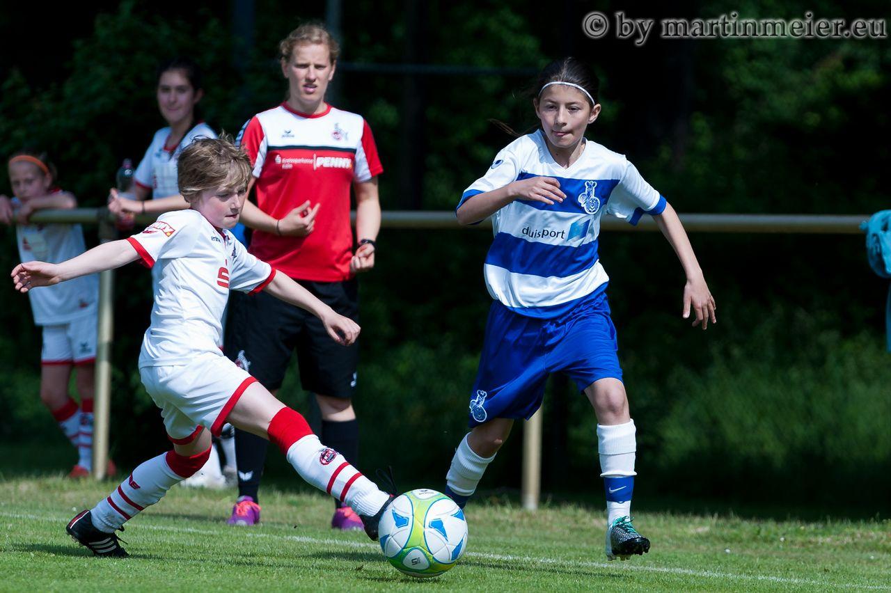 Start nach Maß - Gegen den 1. FC Köln gelang den MSV-Mädchen ein Start nach Maß