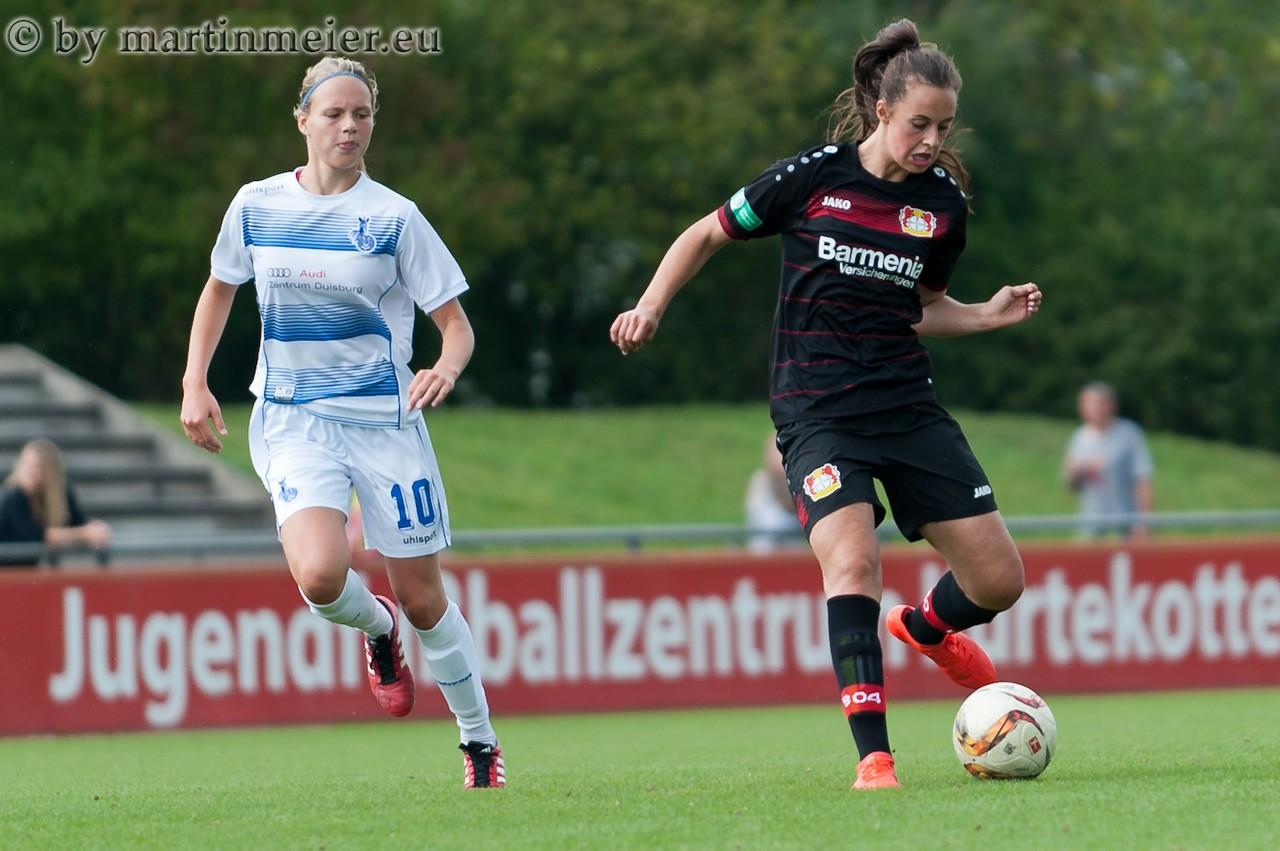 Eine Klasse für sich - Gianna Rackow(Bayer) entschied die Partie mit zwei Treffern zugunsten der Gastgeberinnen