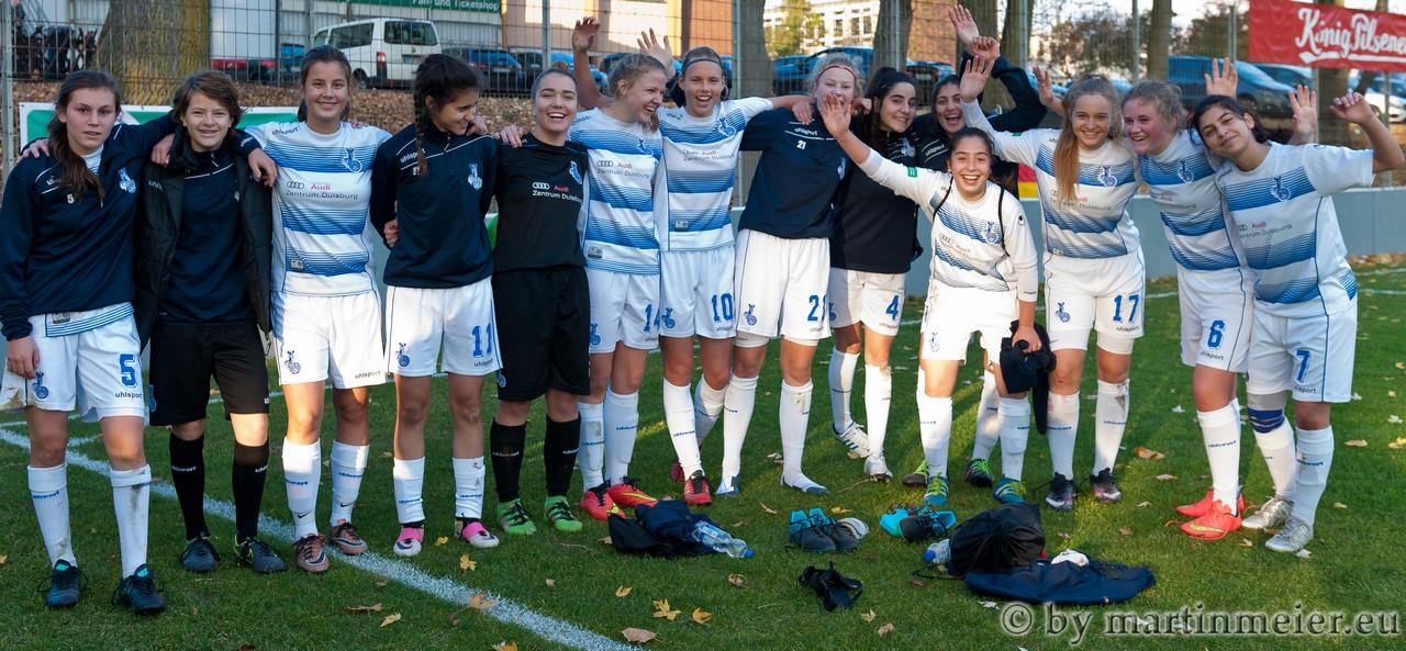 Verdient - Abgekämpft, aber glücklich waren die MSV-Mädels nach dem Derbysieg