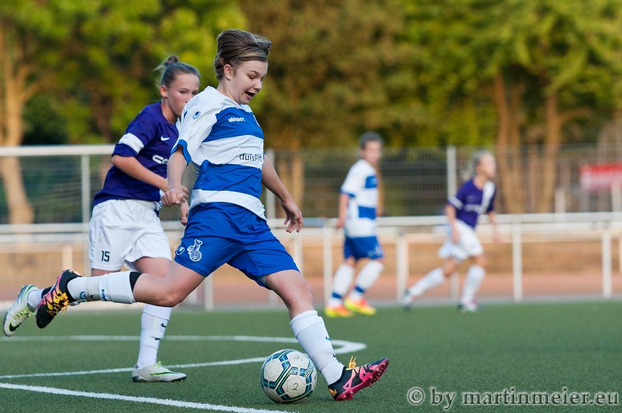 Saisonpremiere - Mara Behnke(MSV) erzielte ihr erstes Pflichtspieltor für die Zebras