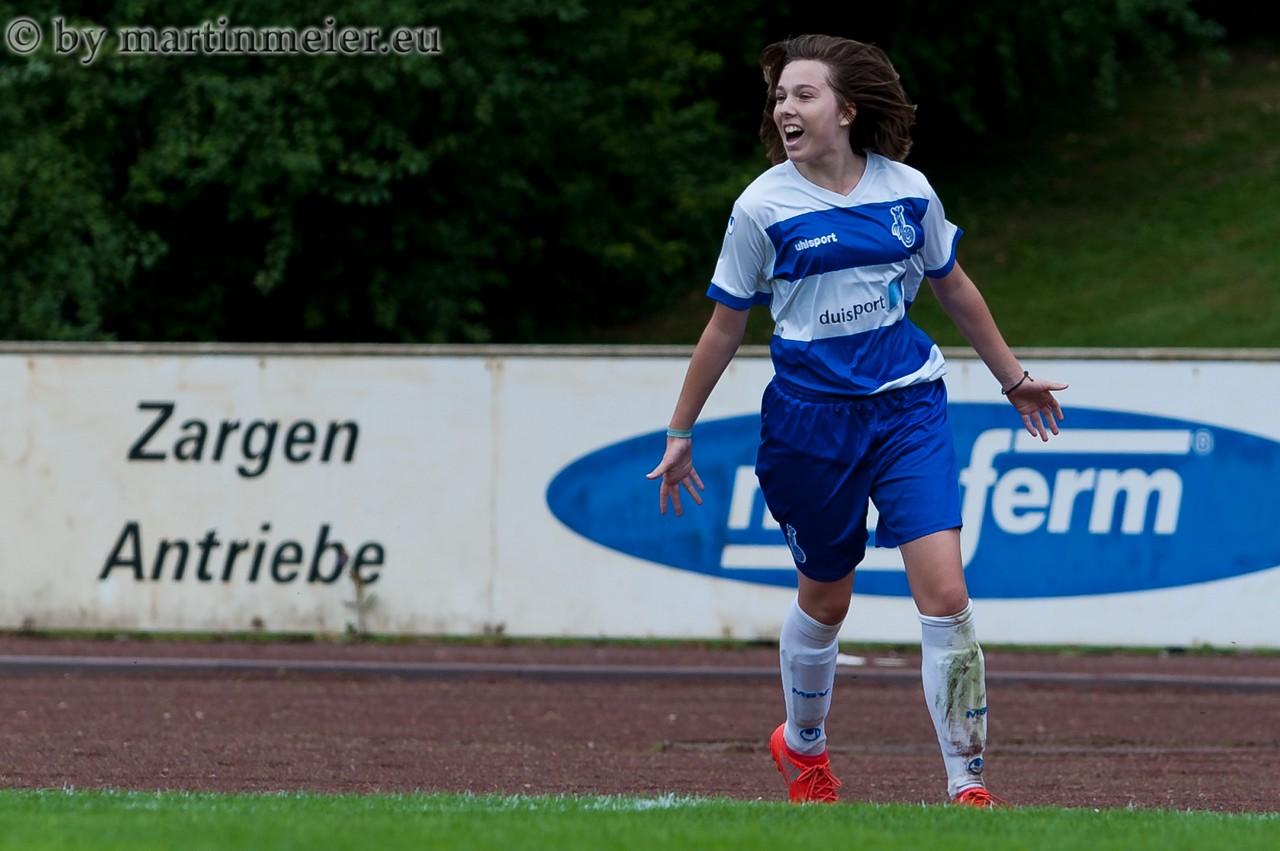 Ausgleich - Leonie Jäger(MSV) egalisierte den Spielstand zum 1.1