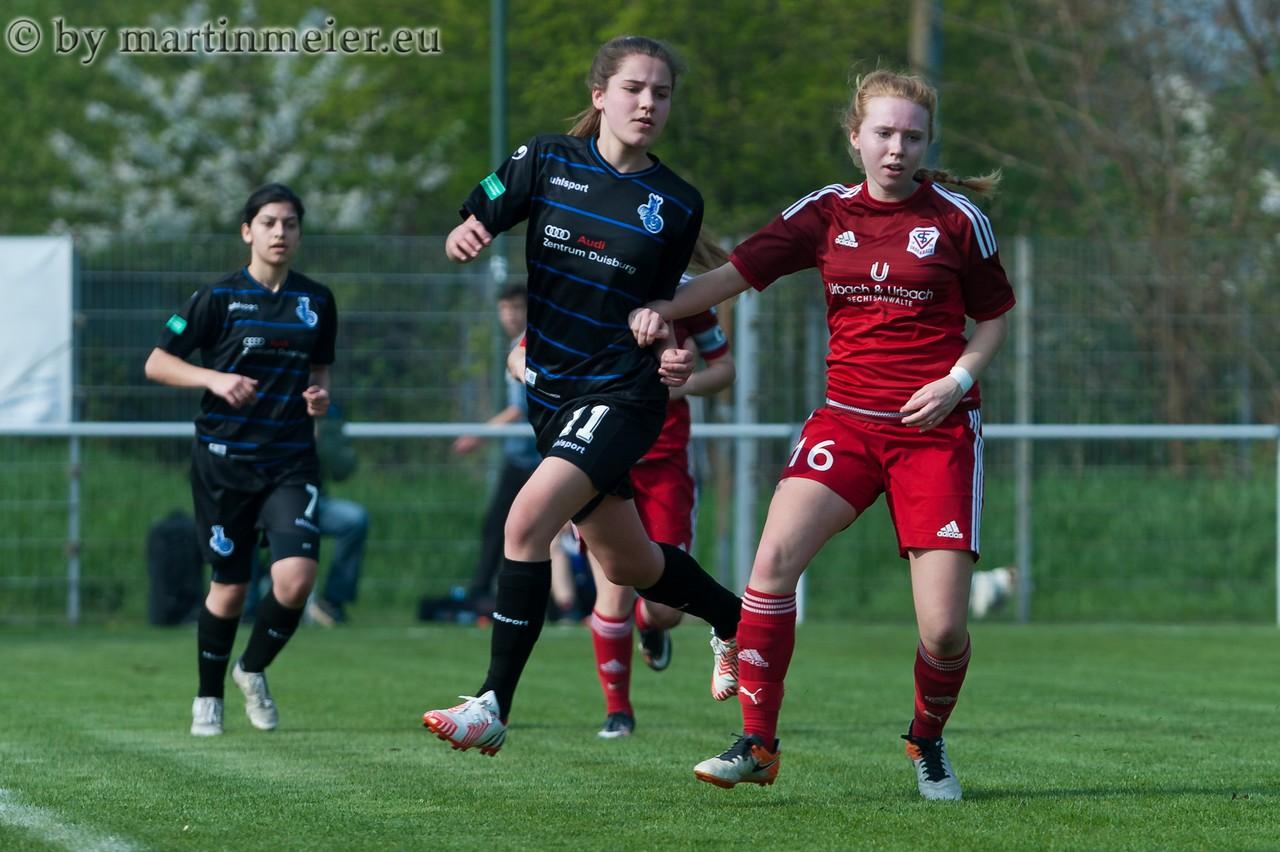 Kam, sah und traf - Inga Dombrowski steuerte ebenfalls einen Treffer zum Pokalsieg bei
