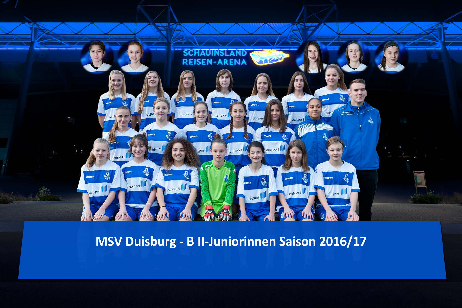 Die U15-Zebras des MSV Duisburg bei der Eröffnung der 26. Trofeo Mediterranéo