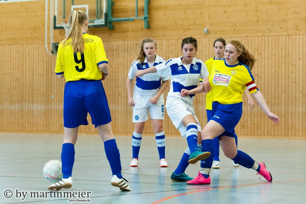 Abgeblockt - Kein Durchkommen für MSV-Talent Melina Agca gegen den FSC Mönchengladbach