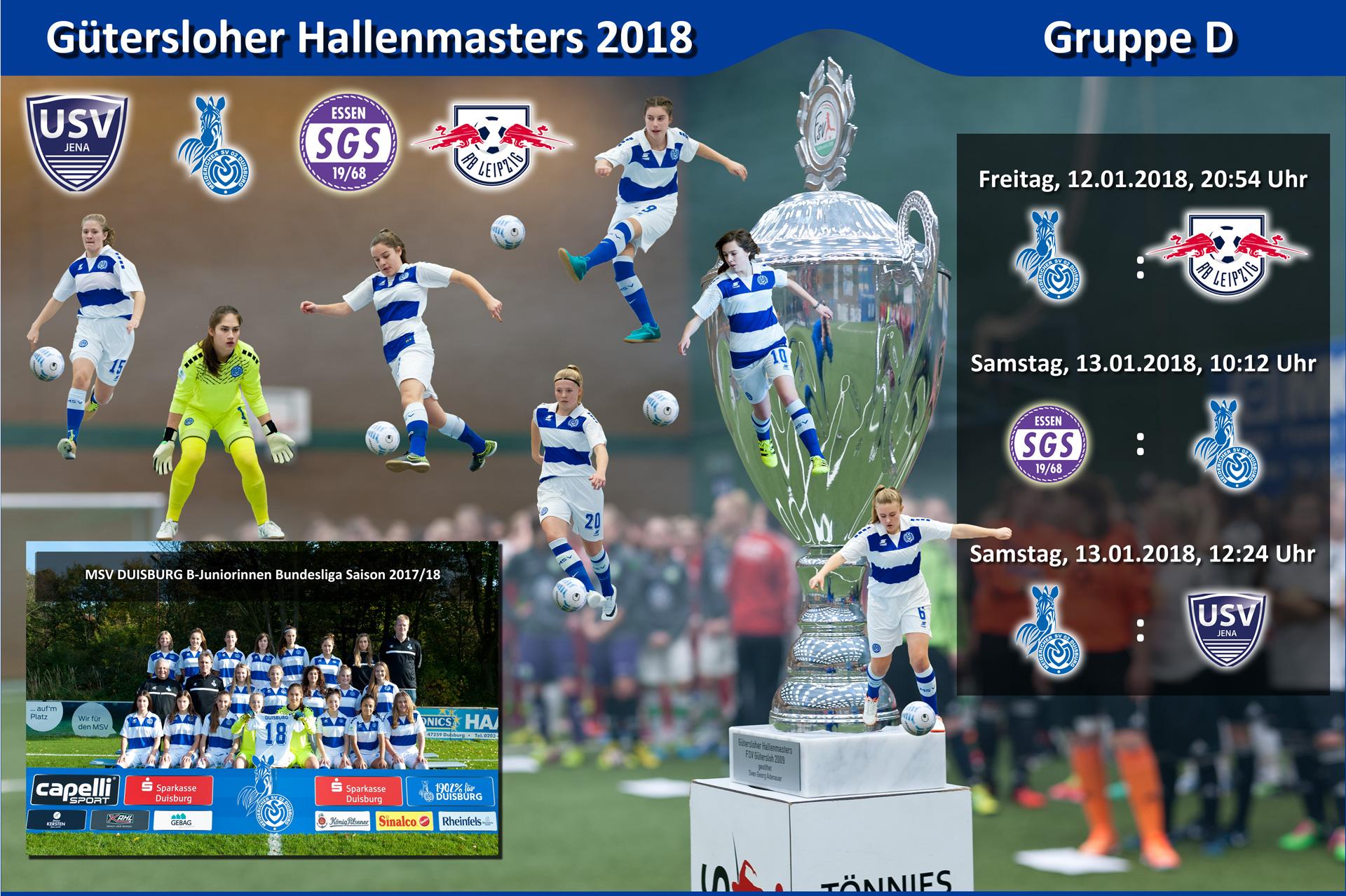 Es geht wieder los - Der MSV Duisburg trifft in der Vorrundengruppe D des Gütersloher Hallenmasters auf die Topteams aus Essen, Jena & Leipzig