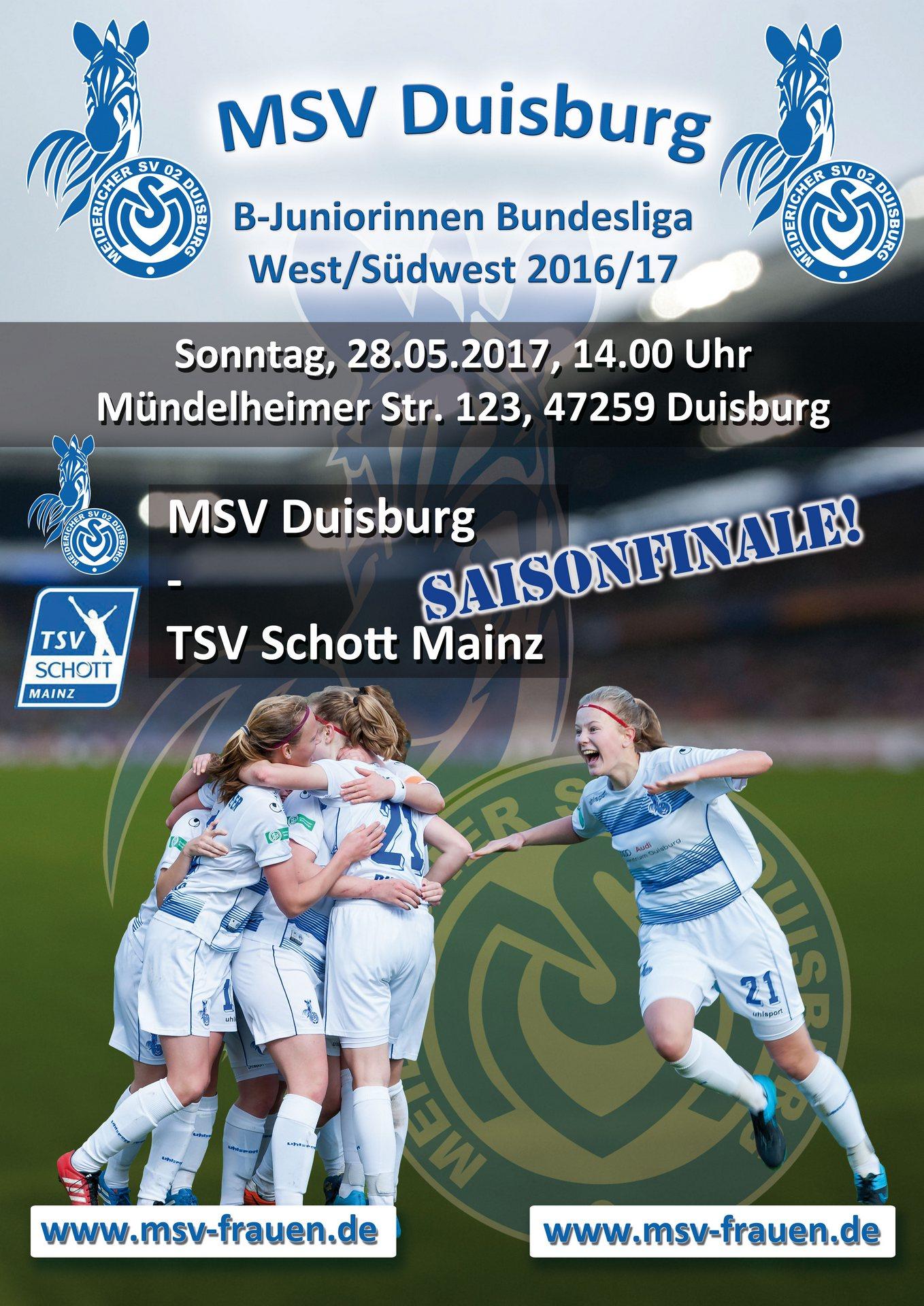 1902% erstklassig - Die MSV-Mädchen haben den Klassenerhalt in der Bundesliga gesichert