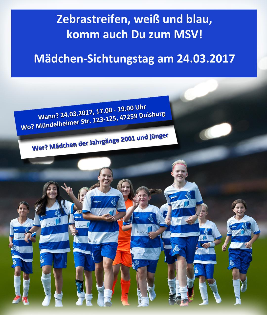 MSV Sichtungstag 2017 - Komm zum MSV Duisburg!