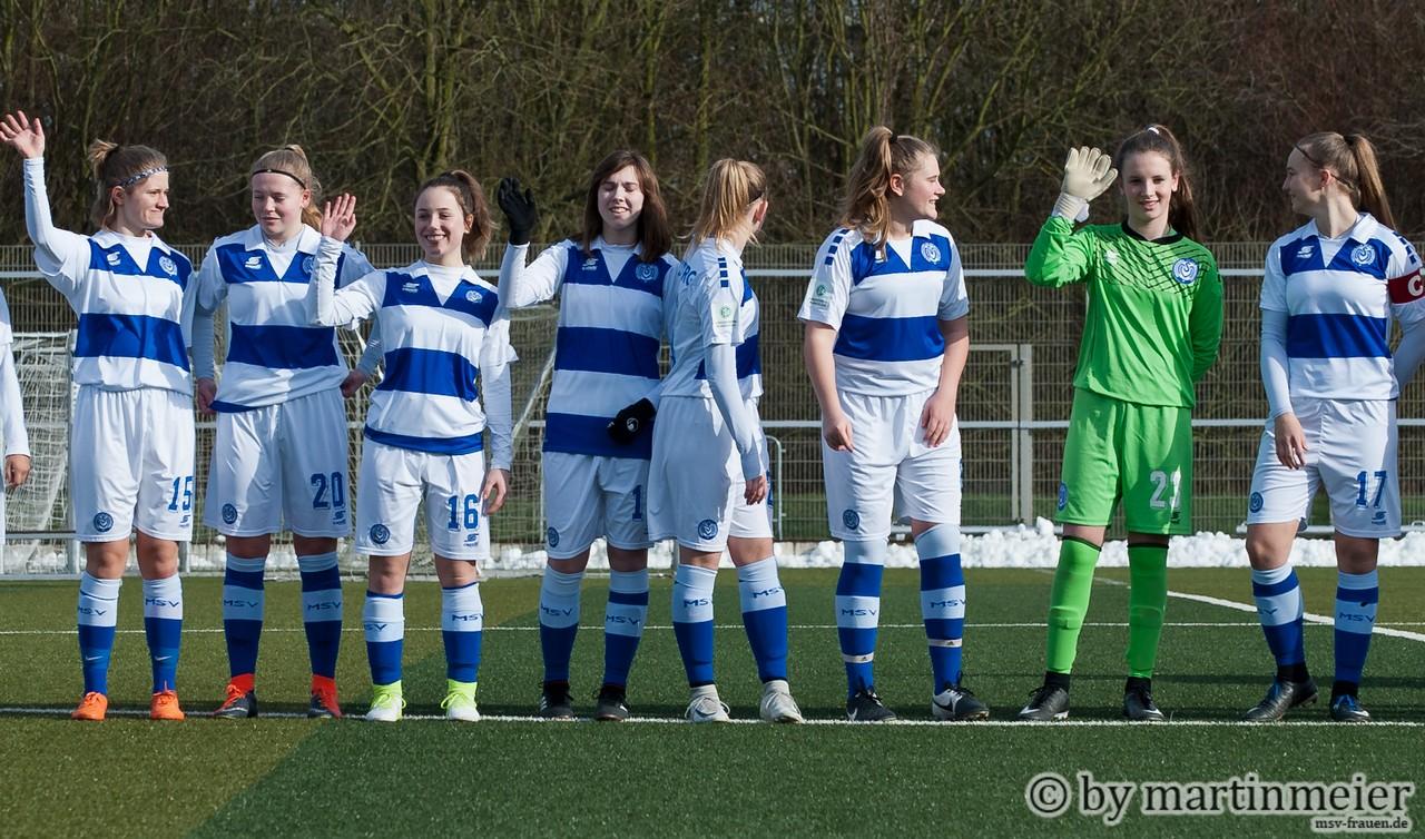 Auf los geht´s los - Die MSV Mädels sind bereit für die Rückrunde in der Bundesliga