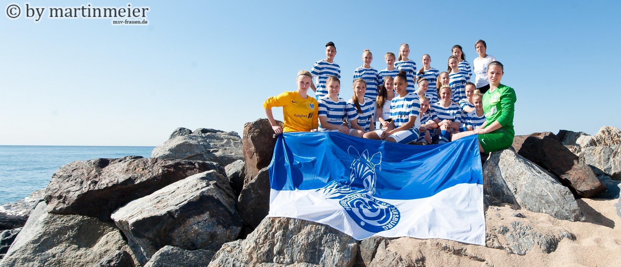 Aloha! Die U17 Mädchen des MSV Duisburg bei der Trofeo Mediterráneo 2014 an der katalanischen Mittelmeerküste