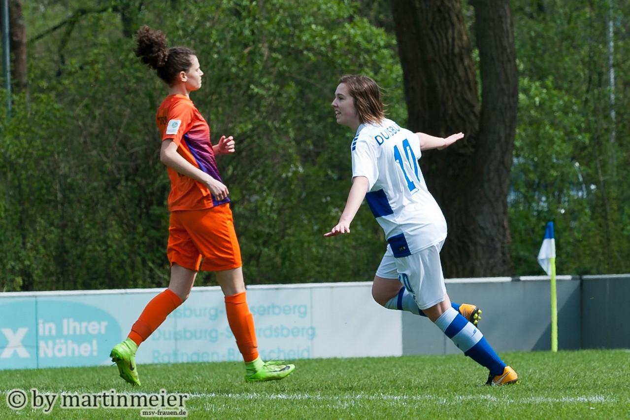 Wichtiger Treffer - Leonie Jäger(MSV) brachte ihr Team in der siebten Minute in Front