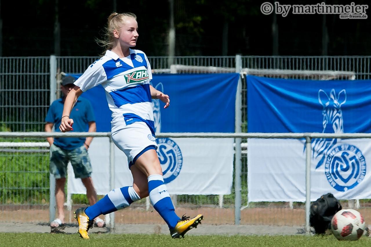 Nur nach vorne - Die MSV-Mädels um Spielführerin Emma Hilbrands peilen die Rückkehr in die Regionalliga an