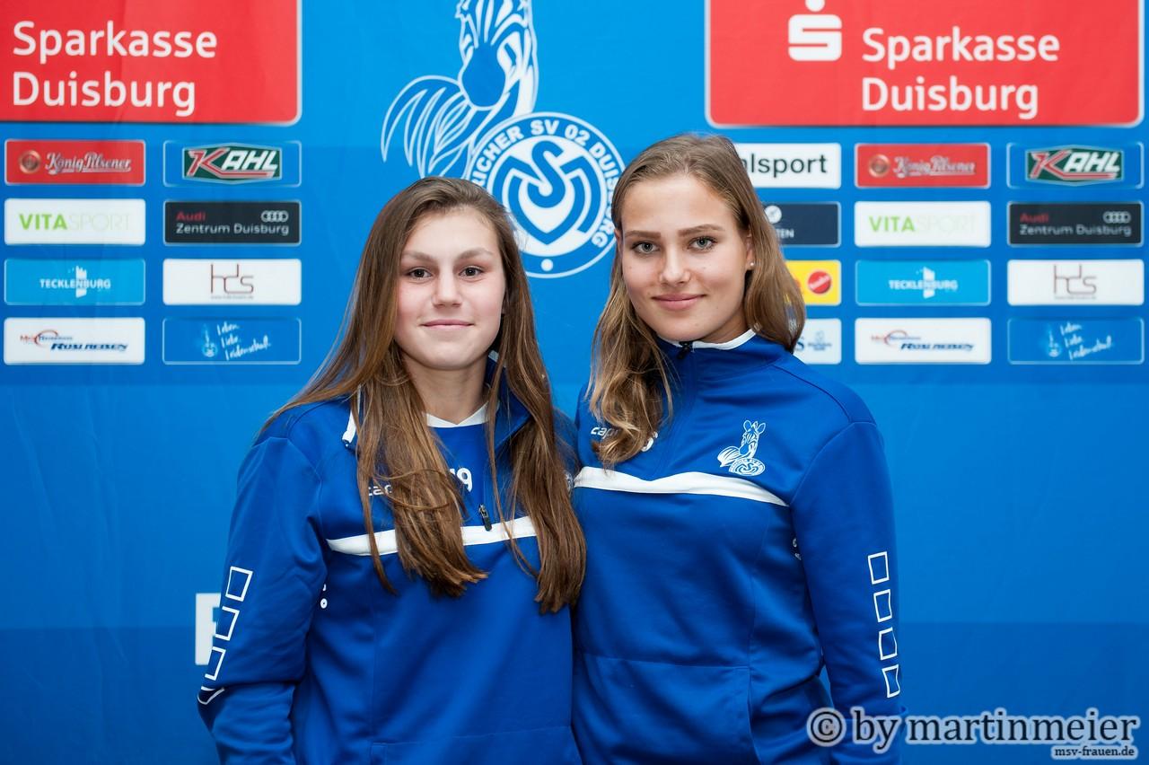 Vorhang auf - Toni Halverkamps und Pia Rybacki eröffneten die Premiere des MSV Fan Talks