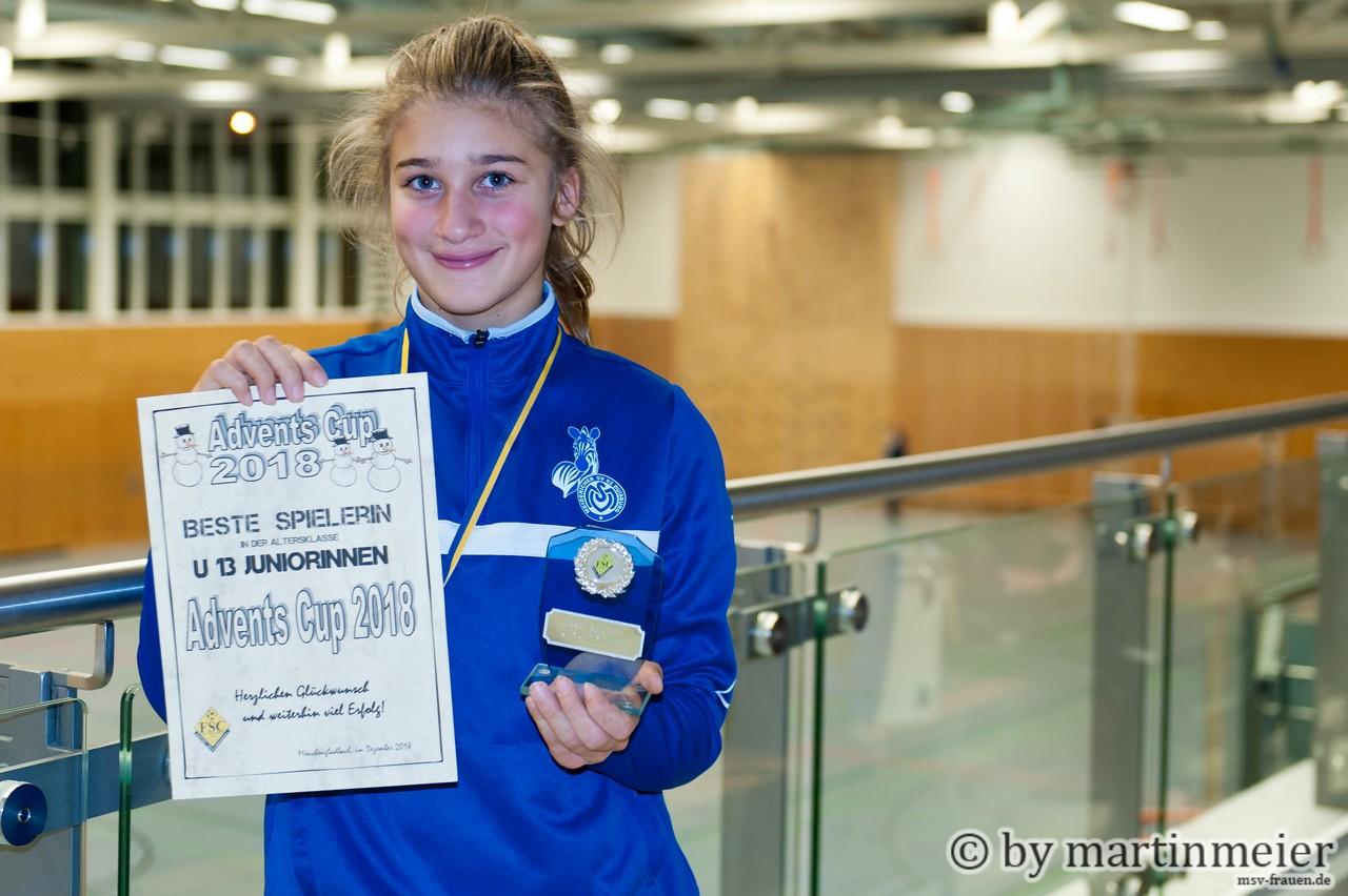 Simply the best - Melisa Öztürk wurde als beste Spielerin des Turniers ausgezeichnet
