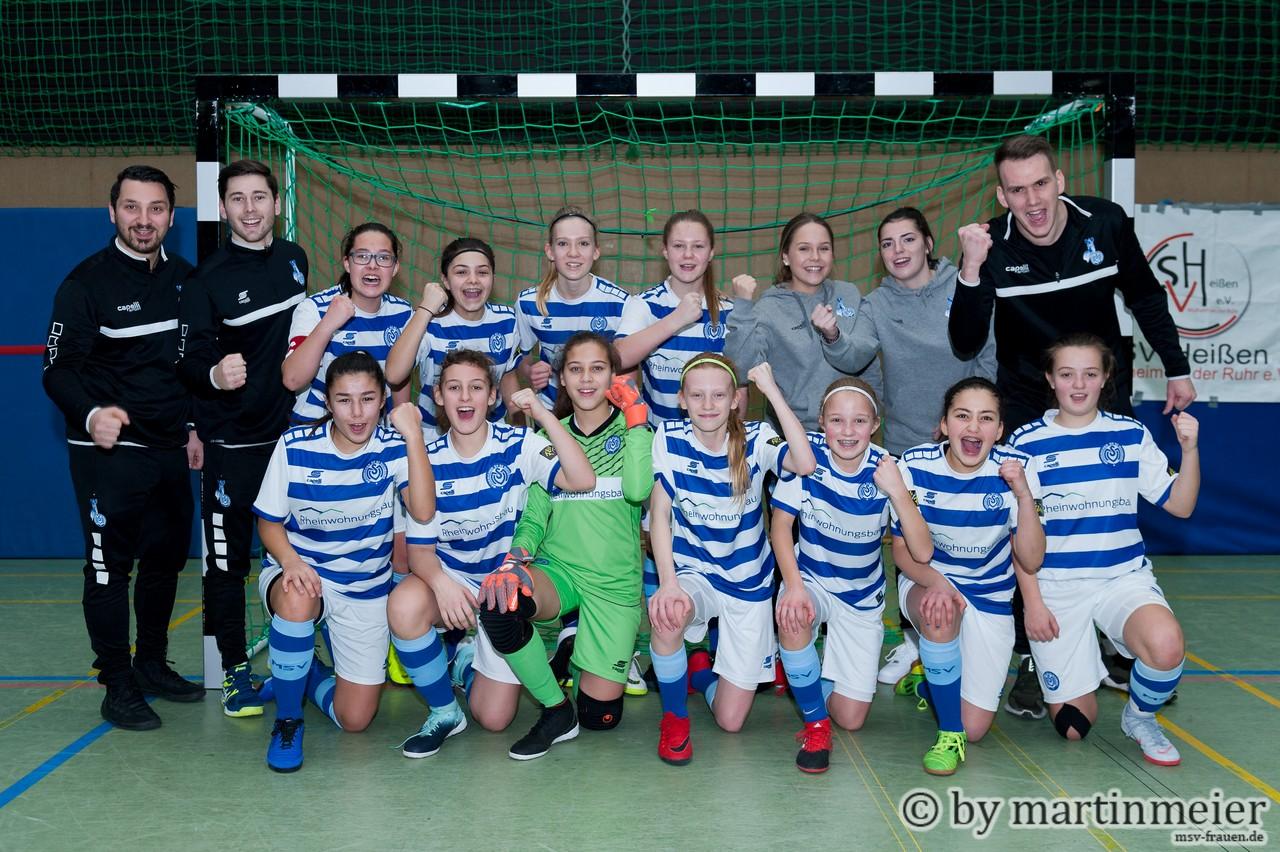 Auf in den Kampf - Die MSV-Mädels starten in den Kampf um die Westdeutsche Futsal-Meisterschaft