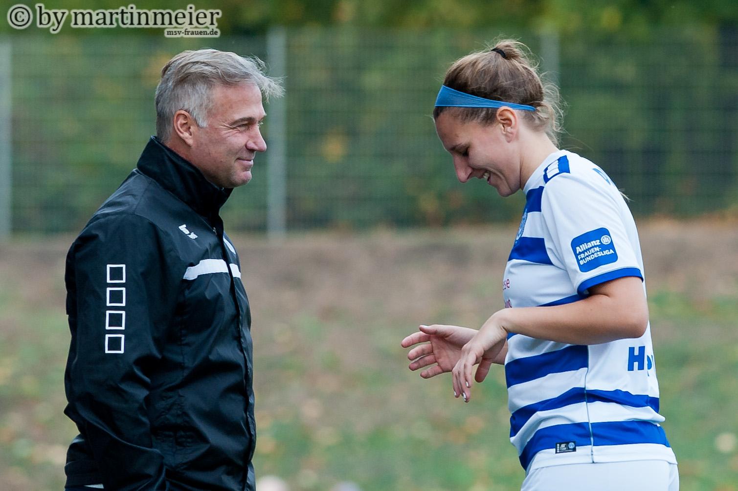 Garanten des Erfolges - MSV-Chefcoach Thomas Gerstner und Stürmerin Dörthe Hoppius