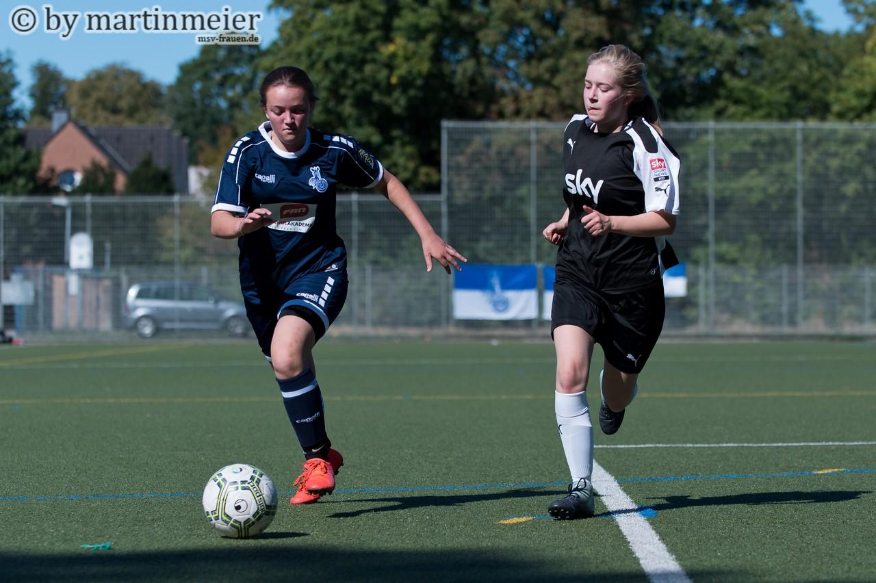 Doppelt gut hält besser - Sophia (MSV) schnürte gegen Eintracht Duisburg einen Doppelpack